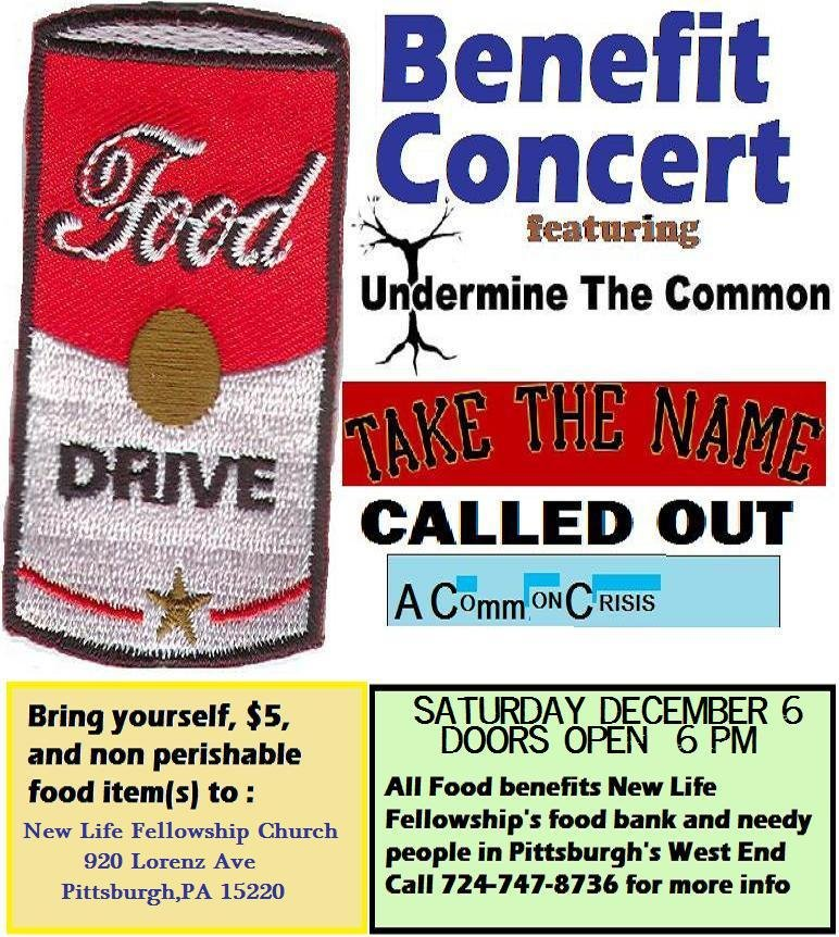 New Life Pantry Benefit Dec 6th